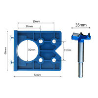 35mm ABS Concealed Hinge Hole Jig Kitchen Cabinet Doors With Drill Bit Tool Set