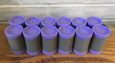 """Conair 1-1/2"""" Big Curls Jumbo Gray Velvet Purple Replacement Rollers Set of 12"""