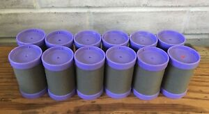 "Conair 1-1/2"" Big Curls Jumbo Gray Velvet Purple Replacement Rollers Set of 12"