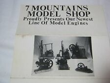 7 MOUNTAINS MODEL SHOP HOME BUILT MODEL ENGINES VINTAGE AD NEW HOLLAND CO     T*