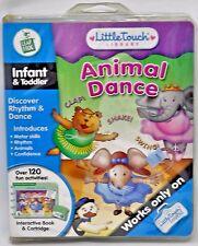 Little Touch LeapPad Frog Animal Dance Infant Toddler Interactive Book & Cartrid