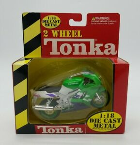 2 Wheel Tonka Kawasaki Ninja 1:18 Die Cast Metal 1999 Maisto Brand New in Box