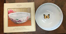 Lenox Butterfly Meadow Sentiment Serving Bowl New In Box Beautiful NEW NIB