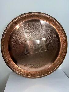 VINTAGE 1930S ANSELLS BREWERY HAMMERED COPPER BEER TRAY VGC