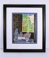 "Marvelous HENRI MATISSE 1948 Antique Print ""The Silent Home"" SIGNED Framed COA"