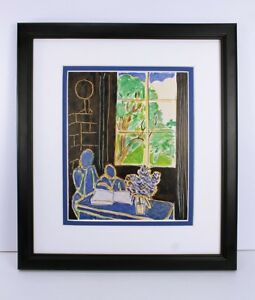 "LOOK MATISSE 1948 Antique Print ""Silence that Lives in Houses"" FRAMED SIGNED COA"