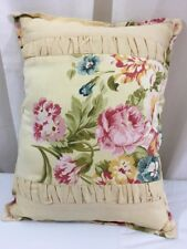 JLA Home Decorative Floral Toss Throw Pillow Pale Yellow Multi 12 X 16 # 91519