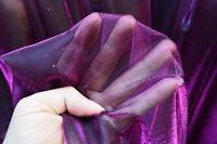 M05 Purple Black Metallic Iridescent 2 Tones Stretch Mesh Net Fabric Material