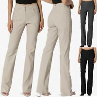 TheMogan S~3X Women Bootcut Stretch Work and Casual Pants Basic Office Trousers