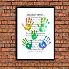 nursery teacher parent thankyou quote a4 gloss Print gift UNFRAMED mothers poem