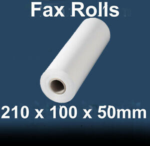 210mm wide x 100m long x 50mm core diameter Thermal Fax rolls box of 6
