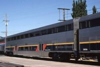 AMTRAK CALIFORNIA Railroad Double Decker Passenger Car Original Photo Slide