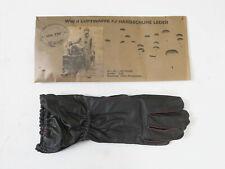WW2 Wehrmacht Fallschirmjäger Leder Handschuhe braun FJ Luftwaffe Gr.II (8-9)