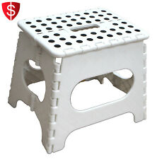 Plastic Folding Stool Step Chair Shower Bath Seat Portable Bathroom Spa Camping