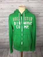 Men's Hollister Full Zip Hoodie - Size Medium - Green - Great Condition
