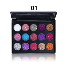 15Colors Women Fashion Eye Shadow Glittery Eyeshadow Palette Makeup Beauty Gift