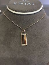 Kwiat 18k Rose Gold 0.19ct Name Tag Necklace 18""