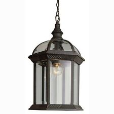Outdoor Lantern Light Hanging Weather Resistant Clear Glass Porch Lawn Decor
