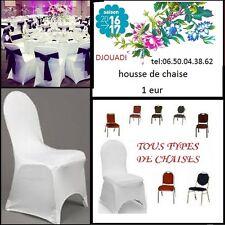 location HOUSSE DE CHAISE  MARIAGE  blanche pas cher