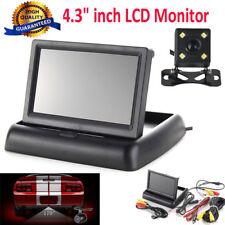 """4.3"""" Plegable TFT LCD Pantalla Monitor Coche Visión Trasera Cámara Nocturna"""