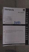 Aiwa av-x500 service manual original repair book stereo vcr receiver tuner