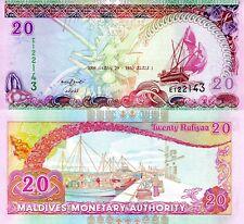 MALDIVES 20 Rufiyaa Banknote World Paper Money UNC Currency Pick p20c 2008 Ship