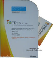 MS OFFICE 2007 BASIC Dauerhafte Vollversion 32+64bit Word Excel Outlook Deutsch