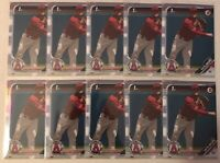 WILL WILSON 2019 BOWMAN DRAFT (10) 1ST YEAR PROSPECT CARD LOT #BD-182