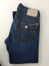 "True Religion Ricky Big QT Mens Jeans W31"" L27"" Denim Blue, Gc"