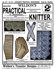 Weldon's 2D #357 c.1914 Vintage Pattern for Knitting Socks, Gaiters & Lace Edges