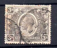 Kenya & Uganda 1922-27 3/- black fine used SG90A WS19021