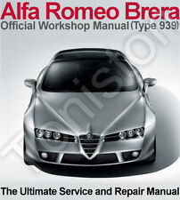 Alfa Romeo Brera 2005-2010 (Type 939) Workshop, Service and Repair Manual on CD