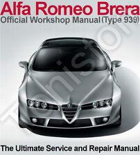 Alfa Romeo Brera 2005-2010 (Type 939) Workshop, Service and Repair Manual on CD