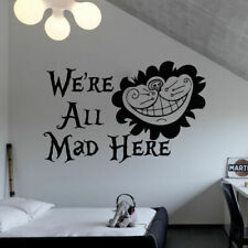 Alice in Wonderland We Are All Mad Here Macbook Car Wall Vinyl Decal Sticker 106