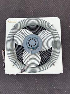 """Vintage Vornado 30E1-1 Metal Window Fan Great Condition Mint Blue 26"""" 2 Speed"""
