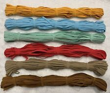 "24 Yds total 1/4"" 6mm flat Skinny Elastic Stretch trim  Headband Mask- 6 Colors"