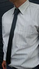 "VIKTOR SABO Handmade  BLACK Leather Tie 1.5""/ 3.8 cm"