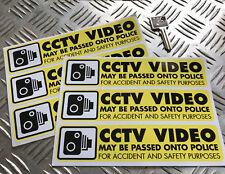 CCTV Vidéo/Dash Cam Autocollant Set Police/Sécurité x6 STICKERS VOITURE