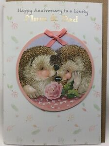 Lovely Large Hallmark  Country Companions Card Happy Anniversary Mum and Dad