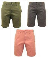 SIMPLY JEANS Men's Summer Chino Shorts Grey/Olive/Pink - Stylish Comfortable
