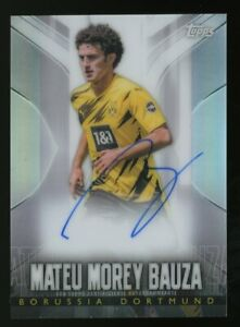 2019-20 Topps Chrome Silver Transcendent BVB Soccer Mateu Morey Bauza AUTO 22/25