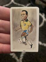 🔥🔥1979 VENORLANDUS #11 PELE Vintage Card Of Brazil Soccer Legend Flik Card🔥🔥