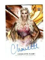 WWE Charlotte 2019 Topps Undisputed Orange On Card Autograph SN 65 of 99