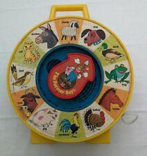 Mattel SEE N SAY Spinning MOTHER GOOSE SAYS Nursery Rhyme Wheel Toy Vintage 1983