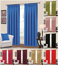 Thermal Blackout Curtains Pencil Pleat Light Reducing Ready Made Thermal Curtain