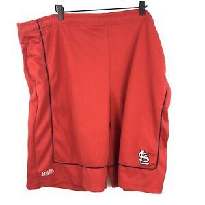 "St. Louis Cardinals Gym Shorts Mens Size Big XL 48"" X 11"" Stitches Brand Red"