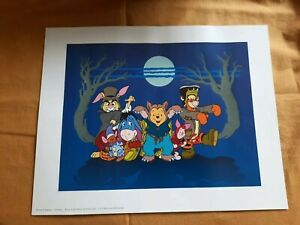 Disney store Winnie The Pooh Halloween Exclusive Limited Edition Luminous Print