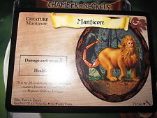 HARRY POTTER TCG GAME CARD CHAMBER OF SECRETS MANTICORE 75/140 UNCO MINT ENGLISH