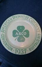 Advertising. Plate American Radiator Co. Enamel  over Iron 10 inch