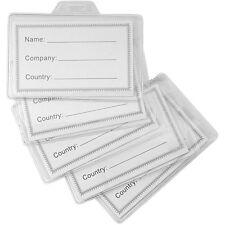 50 portabadge tesserini aziendali porta badge plastica per nominativi